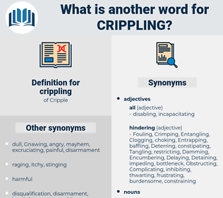 crippling, synonym crippling, another word for crippling, words like crippling, thesaurus crippling