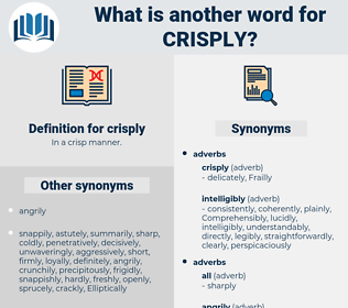 crisply, synonym crisply, another word for crisply, words like crisply, thesaurus crisply