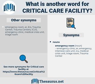 critical care facility, synonym critical care facility, another word for critical care facility, words like critical care facility, thesaurus critical care facility