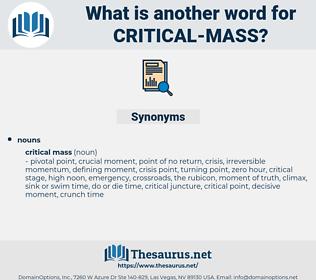 critical mass, synonym critical mass, another word for critical mass, words like critical mass, thesaurus critical mass