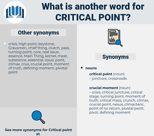 critical point, synonym critical point, another word for critical point, words like critical point, thesaurus critical point
