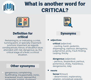 critical, synonym critical, another word for critical, words like critical, thesaurus critical