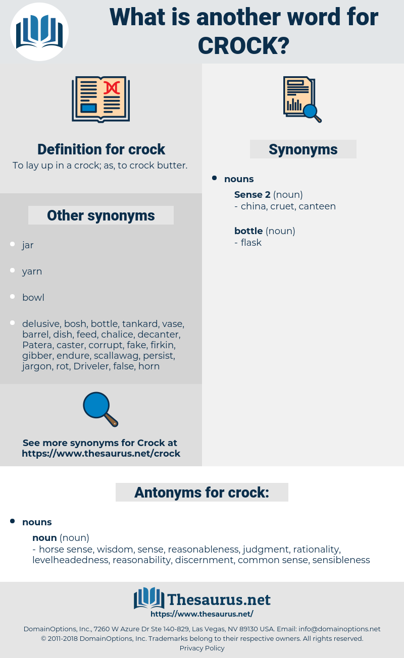 crock, synonym crock, another word for crock, words like crock, thesaurus crock