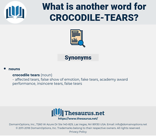 crocodile tears, synonym crocodile tears, another word for crocodile tears, words like crocodile tears, thesaurus crocodile tears
