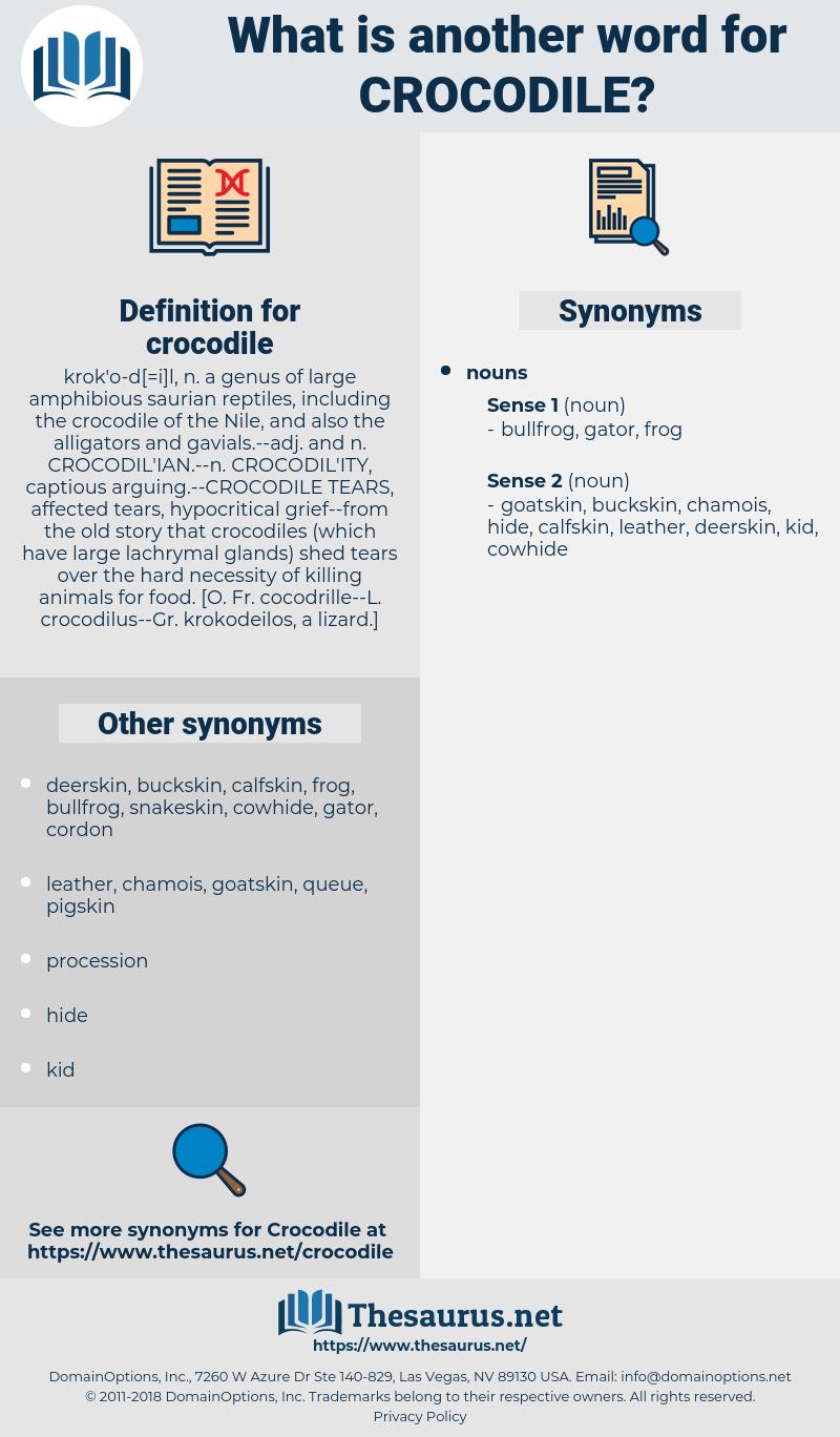 crocodile, synonym crocodile, another word for crocodile, words like crocodile, thesaurus crocodile