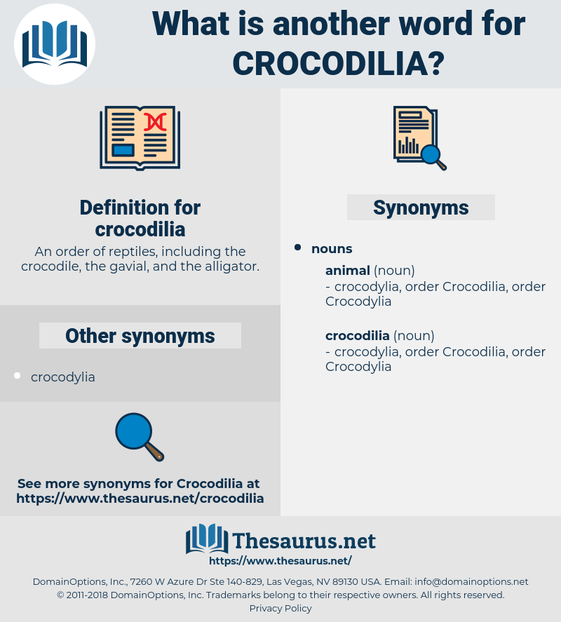 crocodilia, synonym crocodilia, another word for crocodilia, words like crocodilia, thesaurus crocodilia
