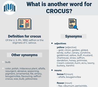 crocus, synonym crocus, another word for crocus, words like crocus, thesaurus crocus