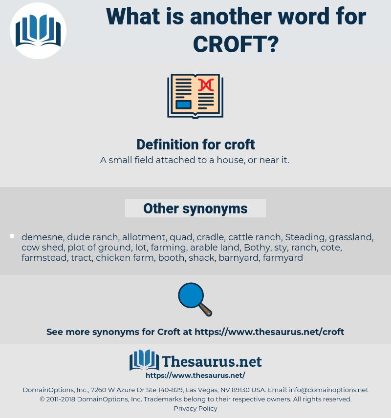 croft, synonym croft, another word for croft, words like croft, thesaurus croft