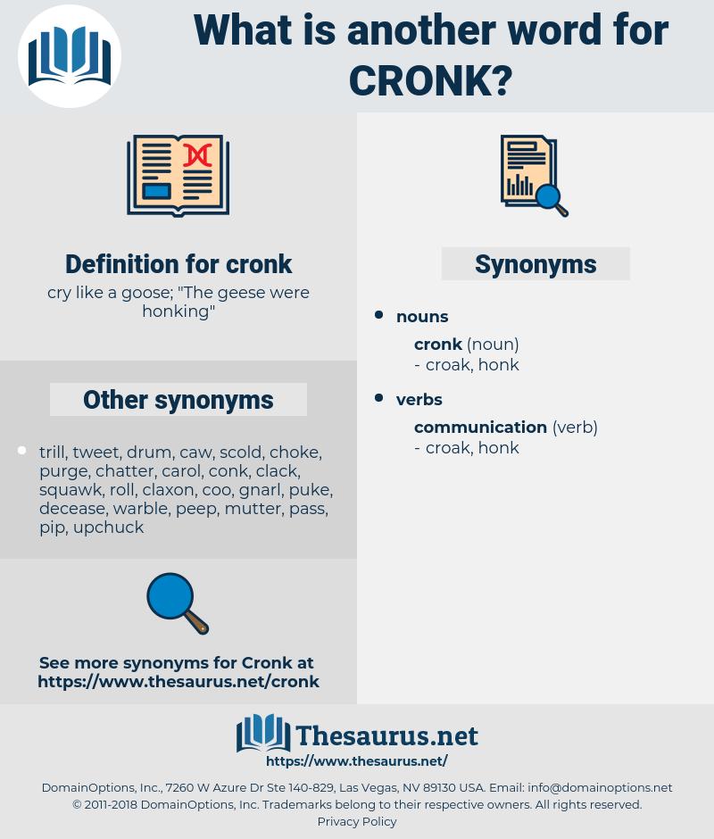 cronk, synonym cronk, another word for cronk, words like cronk, thesaurus cronk