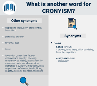 cronyism, synonym cronyism, another word for cronyism, words like cronyism, thesaurus cronyism