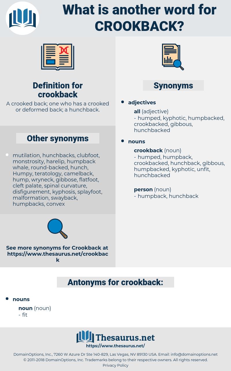 crookback, synonym crookback, another word for crookback, words like crookback, thesaurus crookback