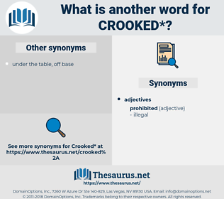 crooked, synonym crooked, another word for crooked, words like crooked, thesaurus crooked