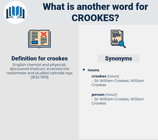 crookes, synonym crookes, another word for crookes, words like crookes, thesaurus crookes
