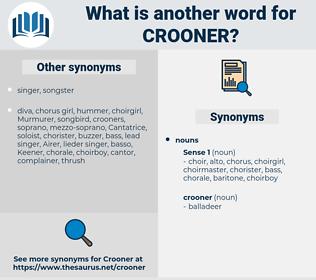 crooner, synonym crooner, another word for crooner, words like crooner, thesaurus crooner