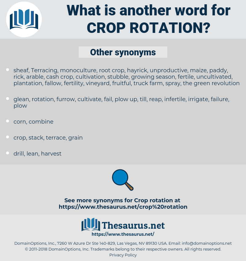 crop rotation, synonym crop rotation, another word for crop rotation, words like crop rotation, thesaurus crop rotation