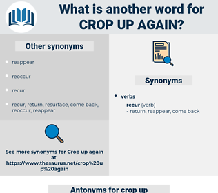crop up again, synonym crop up again, another word for crop up again, words like crop up again, thesaurus crop up again