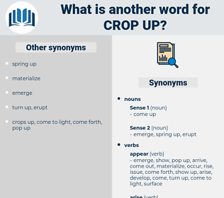 crop up, synonym crop up, another word for crop up, words like crop up, thesaurus crop up