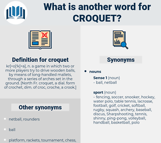 croquet, synonym croquet, another word for croquet, words like croquet, thesaurus croquet