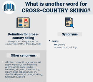 cross-country skiing, synonym cross-country skiing, another word for cross-country skiing, words like cross-country skiing, thesaurus cross-country skiing