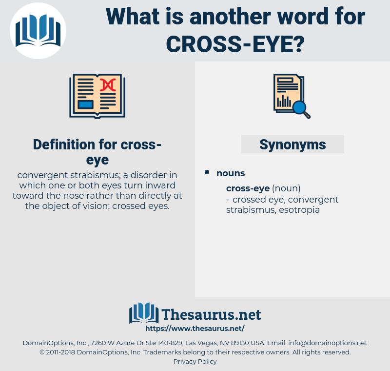 cross-eye, synonym cross-eye, another word for cross-eye, words like cross-eye, thesaurus cross-eye