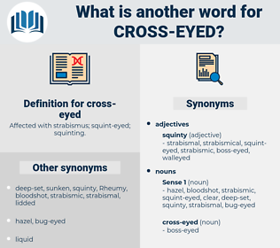 cross-eyed, synonym cross-eyed, another word for cross-eyed, words like cross-eyed, thesaurus cross-eyed