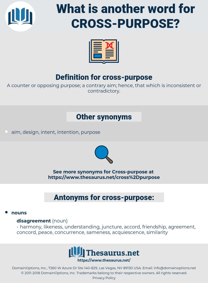 cross-purpose, synonym cross-purpose, another word for cross-purpose, words like cross-purpose, thesaurus cross-purpose