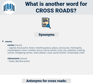 cross roads, synonym cross roads, another word for cross roads, words like cross roads, thesaurus cross roads