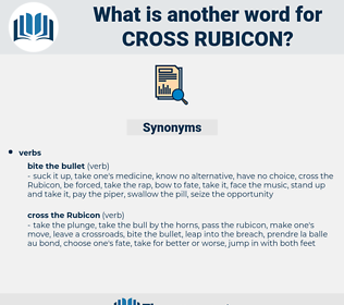 cross rubicon, synonym cross rubicon, another word for cross rubicon, words like cross rubicon, thesaurus cross rubicon