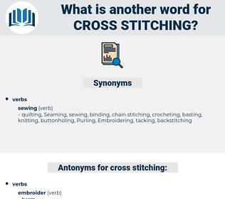 cross stitching, synonym cross stitching, another word for cross stitching, words like cross stitching, thesaurus cross stitching