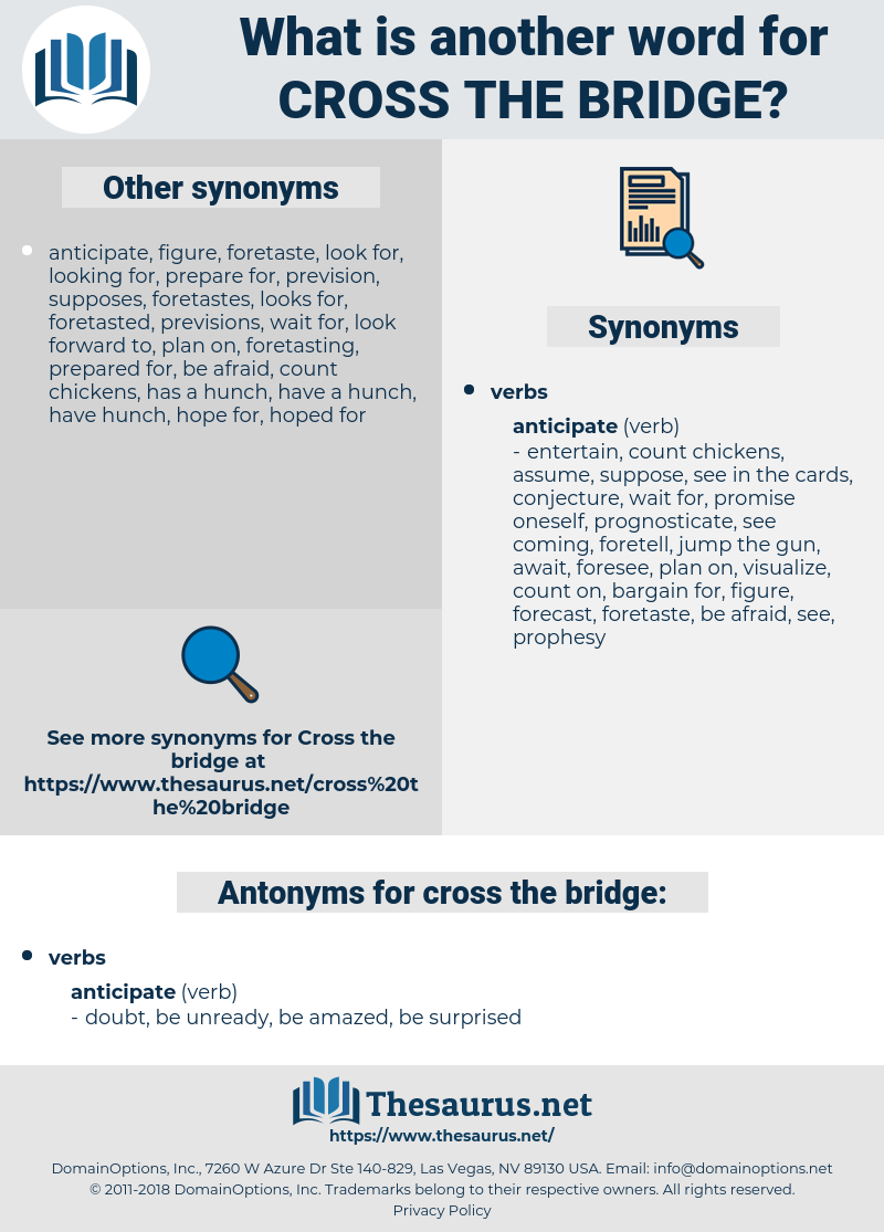 cross the bridge, synonym cross the bridge, another word for cross the bridge, words like cross the bridge, thesaurus cross the bridge