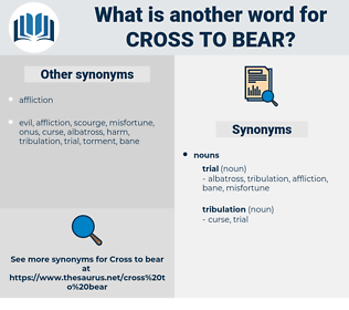 cross to bear, synonym cross to bear, another word for cross to bear, words like cross to bear, thesaurus cross to bear