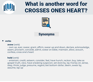 crosses ones heart, synonym crosses ones heart, another word for crosses ones heart, words like crosses ones heart, thesaurus crosses ones heart