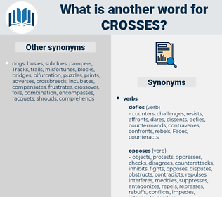 crosses, synonym crosses, another word for crosses, words like crosses, thesaurus crosses