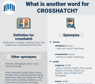 crosshatch, synonym crosshatch, another word for crosshatch, words like crosshatch, thesaurus crosshatch