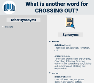 crossing out, synonym crossing out, another word for crossing out, words like crossing out, thesaurus crossing out
