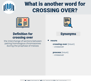 crossing over, synonym crossing over, another word for crossing over, words like crossing over, thesaurus crossing over