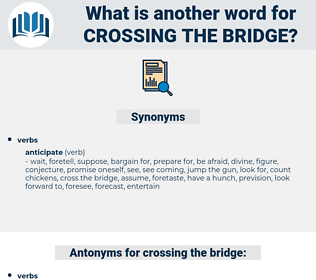 crossing the bridge, synonym crossing the bridge, another word for crossing the bridge, words like crossing the bridge, thesaurus crossing the bridge