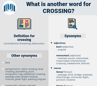 crossing, synonym crossing, another word for crossing, words like crossing, thesaurus crossing
