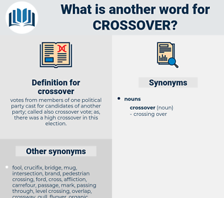 crossover, synonym crossover, another word for crossover, words like crossover, thesaurus crossover