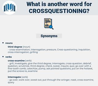 crossquestioning, synonym crossquestioning, another word for crossquestioning, words like crossquestioning, thesaurus crossquestioning