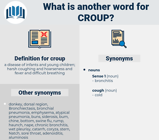 croup, synonym croup, another word for croup, words like croup, thesaurus croup