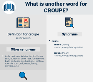 croupe, synonym croupe, another word for croupe, words like croupe, thesaurus croupe