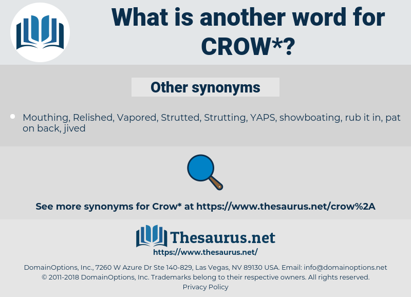crow, synonym crow, another word for crow, words like crow, thesaurus crow