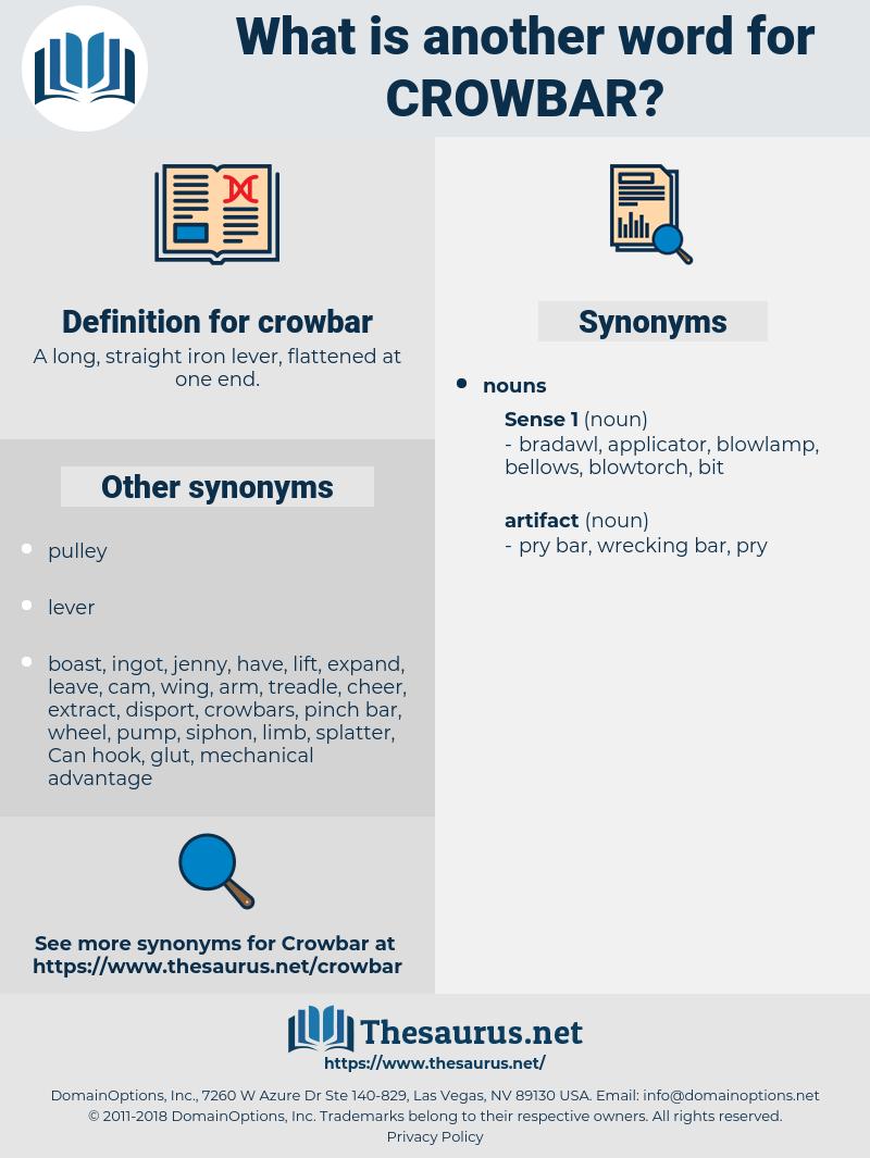 crowbar, synonym crowbar, another word for crowbar, words like crowbar, thesaurus crowbar
