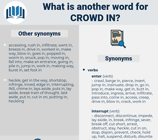 crowd in, synonym crowd in, another word for crowd in, words like crowd in, thesaurus crowd in