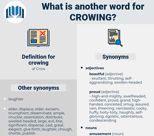 crowing, synonym crowing, another word for crowing, words like crowing, thesaurus crowing