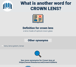 crown lens, synonym crown lens, another word for crown lens, words like crown lens, thesaurus crown lens