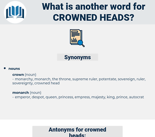 crowned heads, synonym crowned heads, another word for crowned heads, words like crowned heads, thesaurus crowned heads