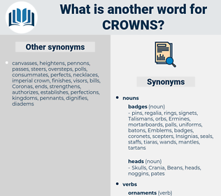 Crowns, synonym Crowns, another word for Crowns, words like Crowns, thesaurus Crowns