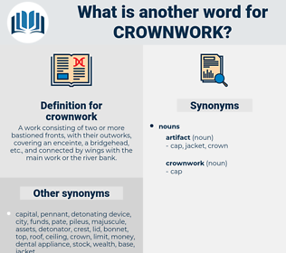 crownwork, synonym crownwork, another word for crownwork, words like crownwork, thesaurus crownwork